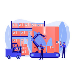 Warehouse logistics concept vector