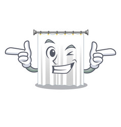 Wink shower curtains in the character bathrooms vector