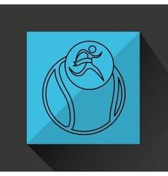 Winner silhouette sport tennis icon vector