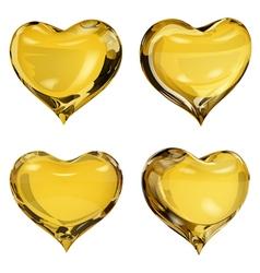 Yellow hearts vector