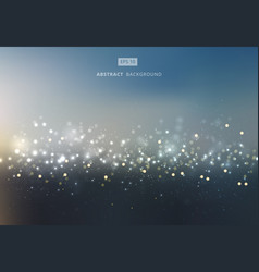 abstract gold and silver bokeh with sky background vector image