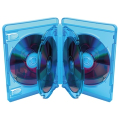 opened Blu Ray disc box with discs vector image vector image