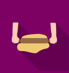 rolling the dough icon in flat style isolated on vector image