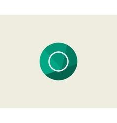 Abstract letter O logo design template Dot line vector image vector image