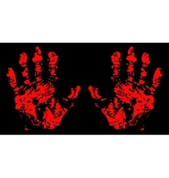 Hands Trace Bloody vector image