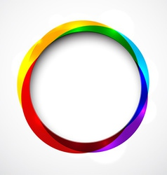 Round colorful abstract background vector image