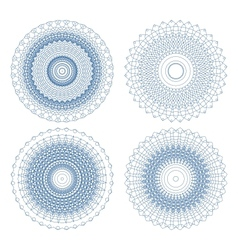 Set of ornament rosettes vector image vector image