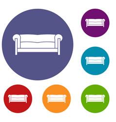 sofa icons set vector image