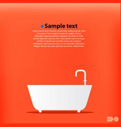 cartoon bath orange background vector image