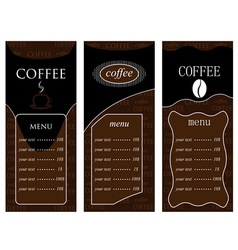 Coffee templates 2 vector image vector image