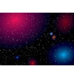 deep space sky vector image vector image