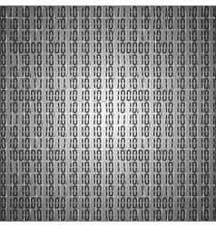 Flat binary code screen table cypher vector