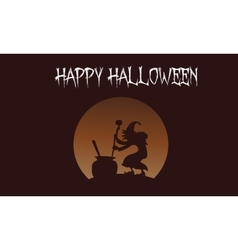 Happy Halloween witch backgrounds vector image