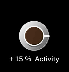 hot black coffee in a white tank top on a black vector image vector image