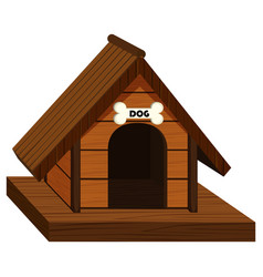 pethouse design for dog vector image