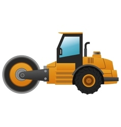 steamroller machine icon vector image