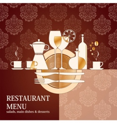vector restaurant menu design vector image vector image