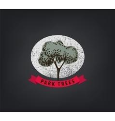 vintage tree logo Eco print hipster vector image vector image