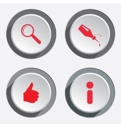 WEB info icons Kursor like hand target repair fix vector image vector image
