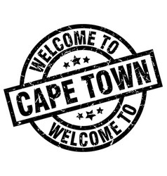 welcome to cape town black stamp vector image vector image