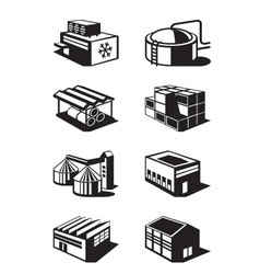 Industrial and commercial warehouses vector image vector image