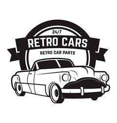 Vintage cars sale retro car icon car repair vector