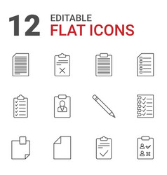 12 list icons vector