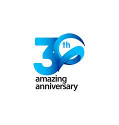 30 years amazing anniversary celebration template vector