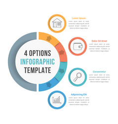 4 options infographic template vector