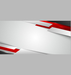 Abstract corporate banner web design red vector