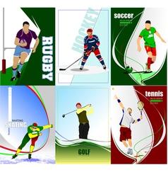 al 0447 six posters 01 vector image