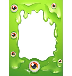 An empty template with eyeballs vector