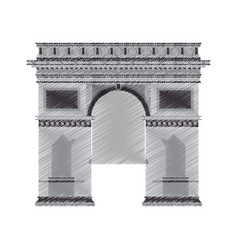 Arc de triomphe icon image vector