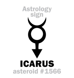 Astrology asteroid icarus vector