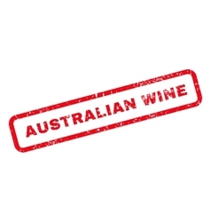 Australian Wine Text Rubber Stamp vector