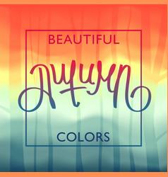 Beautiful autumn colors vector