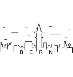 bern outline icon can be used for web logo mobile vector image