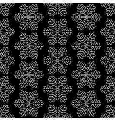 black snowflake background vector image