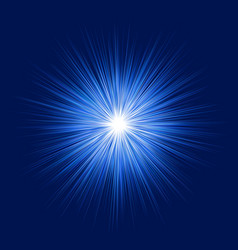 Blue abstract explosion graphic design background vector