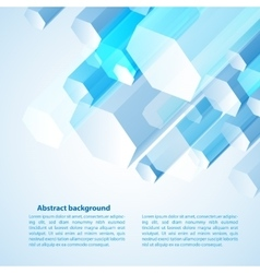 Blue cristal for your vector image vector image