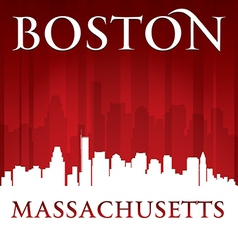 Boston Massachusetts city skyline silhouette vector image