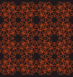 bright seamless lace pattern on a dark background vector image vector image