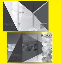 brochure business template design with Black and vector image