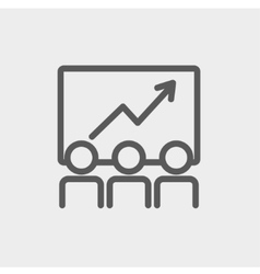 Business growth thin line icon vector