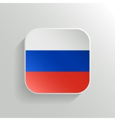 Button - russia flag icon vector