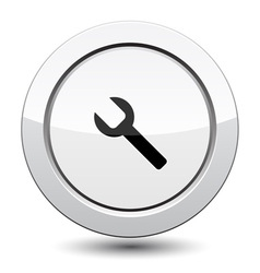Button with wrench vector