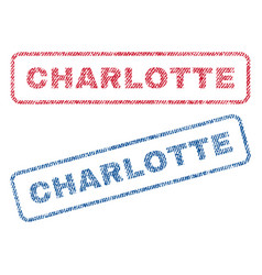 Charlotte textile stamps vector