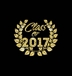 Class of 2017 card vector