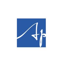 Creative initial letter ap square logo design vector