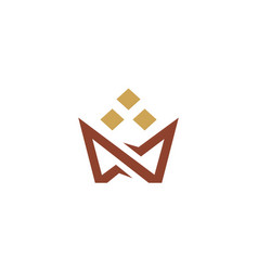 crown abstract shape logo vector image